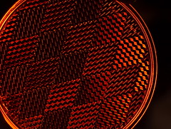 Night Lights (Caroline.32) Tags: macro macromondays safety bicyclereflector geometric diamond nikond3200 50mm18 niftyfifty extensiontubes extensiontube12mm