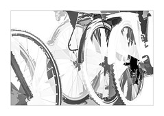 8000 For Hire (foxxyg2) Tags: cycles cycling bicycles forhire torent wheels mono monochrome bw blackwhite se silverefex niksoftware dfine2 topax topazstudio topazsimplify topazsoftware hk highkey highcontrast