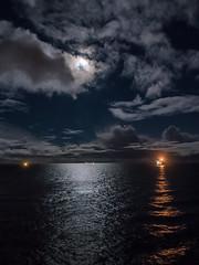 Full Moon Offshore (Craig Hannah) Tags: fullmoon nightsky night moon clouds sky northsea sea reflection light oilrig oil gas platform rig industry craighannah december 2018 canon photography scotland uk wintersolstice coldmoon