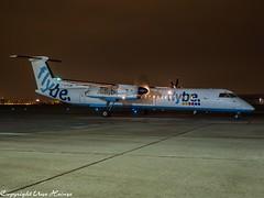 flybe G-FLBA HAJ at Night (U. Heinze) Tags: aircraft airlines airways airplane planespotting plane night olympus 1240mm haj hannoverlangenhagenairporthaj eddv