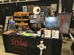 Eyeball Ink/Terry Collier set up at NuCon 2018 (terrycollier209) Tags: woodart display gadsdenalabama nucon convention eyeballink originalart artprints artwork artist art terrycollier