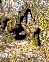 Lavagrotte Buchholz (Jörg Paul Kaspari) Tags: buchholz eifel lavagrotte mariengrotte illustration