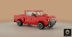 MLV Barrier 905 Crew Cab (Makaleves Lego Vehicles) Tags: lego mlv barrier pickup truck car vehicle 4x4 crew cab