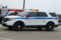 Metropolitan Water Reclamation District Police Department Ford Explorer (nick123n) Tags: police vehicle law enforcement car squad lights siren funeral procession illinois wisconsin state trooper christopher lambert isp thin blue line colors automobile emergency