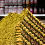 Spices at a market in Jerusalem's Old City. thumbnail