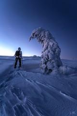 Auto-Portrait (Manonlemagnion) Tags: nature paysage hiver neige vosges sapin froid matin nuit leverdesoleil sunrise autoportrais raquette nikond810 1635mmf4
