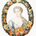 Portrait of a woman in a floral wreath by Johan Teyler (1648 -1709). Original from The Rijksmuseum. Digitally enhanced by rawpixel.