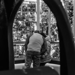 (2 of 3) On the pier... (+Pattycake+) Tags: streetphotography 10dec18 pier people moon slotmachines amusementarcades offseason felixstowe winterseaside monochrome eastcoast blackandwhite candid bw winter street seaside