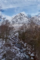 Buaichaille Etive Mor and The River Coupall (emperor1959 www.derekbeattieimages.com) Tags: buaichailleetivemor landscape macdonald glencoe ice mountains nature river scotland scottishlandscapephotography snow winter stobdearg glenetive lochaberriver rivercoupall trees