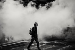 Blowing off some steam.. NYC (cesar.toribio1218) Tags: streetphotography nycphotography blackandwhitephotos blackandwhite monochrome citystreets citylife thebigapple industrial sonyalpha sonyuniverse