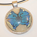 Polymer Butterfly Pendant