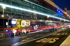 Nocturna (lautada) Tags: destello coche autobus circulacion nocturna noche madrid luz largaexposicion