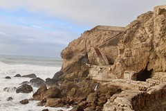 The ruins by rock cliff on coastline (daveynin) Tags: landsend sanfrancisco nps ocean shore ruins abandoned sutrobaths coastline rocks seastack stack pacificocean