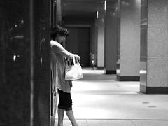 Woman! (takana1964) Tags: streetphotography snap streetsnap street snapshot streetshot citysnap citystreet city cityphotography blackandwhite bw bnw kyotocity japan olympus