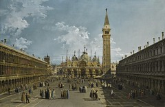 Bernardo Bellotto - Venice, piazza San Marco looking East towards the Basilica (Pau NG) Tags: bernardobellotto art paintings venice venezia italy italia