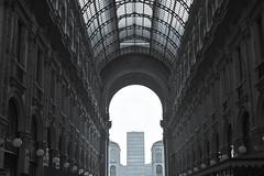 Milano (lorenzog.) Tags: milano piazzaduomo 50mm italy blackandwhite nikon d700 milan galleriavittorioemanuele perspective architecture architettura