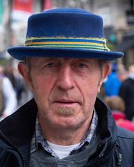 Do you like my hat? (Nikonsnapper) Tags: olympus omd em1 zuiko 45mm street hat international rugby portrait colour cardiff wales