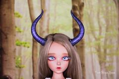 Dragon horns SD (AnnaZu) Tags: horns sd dragon alicia fairyline minifee annaku vesnushkahandmade polymer clay commission bjd abjd doll fairyland balljointed