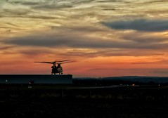 Tonight's Sunset (Charlie Little) Tags: cameraphone mobilephotography sunset aviation chinook helicopter huawei p20pro leica carlisleairport cumbria