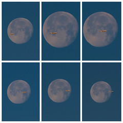 Luna-Moon-Avion-Airplane (angelalonso57) Tags: 300 mm 70300 tamron canon sky avion 7d luna moon airplane orange satelite azul blue fabulous capture work foto job photo