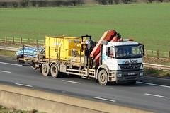 HN12 TKJ (panmanstan) Tags: mercedes axor wagon truck lorry commercial rigid flatbed freight transport haulage vehicle m62 motorway sandholme yorkshire