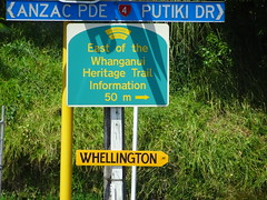 Whanganui Wanganui. A few years ago the government in Wellington  decided Wanganui had to have an h in it. The locals have responded. (denisbin) Tags: whanganui wanganui wellington whellington harbour governmentbuilding maori maroiwoman waitangi marae singers dancers traditional wiamarie steamboat paddlesteamer whanganuiriver