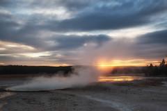 Yellowstone Sunset (flopper) Tags: geyser grandteton sunset yellowstone cloud stream