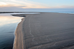 Sandscript (Aaron Springer) Tags: michigan northernmichigan lakemichigan thegreatlakes beach sand water clouds reflection outdoor nature abstract