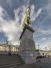 The Invisible Enemy Should Not Exist (padraic collins) Tags: london trafalgarsquare fourthplinth michaelrakowitz theinvisibleenemyshouldnotexist lamassu nergalgateofnineve sculpture