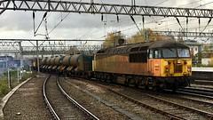 Colas RHTT departing Crewe for Holyhead (jimscott2) Tags: grid colas rhtt crewe 56078 56087