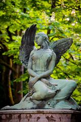 state of an angel in zagreb cemetery (Sam Scholes) Tags: mirogojcemetery graves zagreb travel landmark graveyard vacation europe cemetery croatia cityofzagreb hr