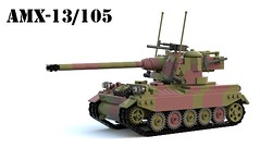 AMX-13/105 (Matthew McCall) Tags: lego army war military moc french franch light tank amx13 105