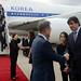 Llegada de Moon Jae-in, presidente de Corea del Sur