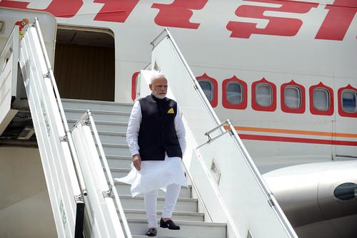 Llegada de Narendra Modi, primer ministro de India