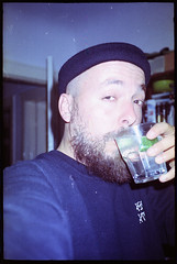 Connoisseur (C H R S T P H) Tags: selfie selfportrait expiredfilm fujifilm gin canonprima5 drinking