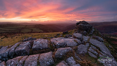 Helter Skelter (http://www.richardfoxphotography.com) Tags: sharptor tor dartmoornationalpark dartmoor granite sunrise redskies red redsky redsunrise mor moorland skies clouds