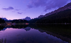 Blue hour at Misurina Lake (paolo_barbarini) Tags: misurina lago lake paesaggio landscape reflection tramonto ora blu bluehour mountains trentino dolomiti dolomites sunset