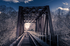 Train Trestle in Barboursville, WV (tsmartin75) Tags: trainbridge bridge trestle barboursvillewv barboursville wv west virginia sky clouds trees fall nikon d7200 7200 35mm outdoors landscape nature tracks