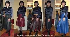 Marie in leather skirts (Marie-Christine.TV) Tags: feminine transvestite lady mariechristine leather skirts laced boots lederröcke satinbluse schluppenbluse schleifenbluse pussybowblouse pleatedskirt