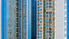 Towering Reflections - Hong Kong Aerial (tobyharriman) Tags: 2018 hongkong abstract aerial apartments blocktower china complex drone estates highrise homes housing kowloon living photography population publichousing rental residences skyscraper towers