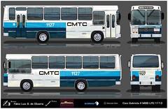 1127 CMTC - Caio Gabriela - Mercedes Benz LPO 1113 REFLEXO (busManíaCo) Tags: desenho caiogabriela busmaníaco