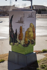 Autumn Morning (greeleygov) Tags: utility boxes box cabinets public art greeley colorado