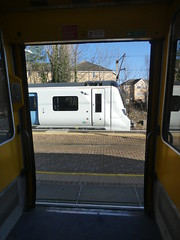 717003-GordonHill-P1531442 (citytransportinfo) Tags: 717003 siemens desirocity train railway greatnorthern station gordonhill sunshine bluesky winter class717