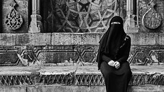 Nice eyes (rvrossel) Tags: blackandwhite bnw bw portrait girl streetphoto street fujilove fujishooters fujixpro2 xpro2 mosque worship city