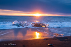 Ice Beach, Jökulsárlón D85_7814.jpg (Mobile Lynn) Tags: beach sunrise morninglight water landscape ocean glacier coast blacksand ice landscapephotography outdoorphotography easternregion iceland is coth coth5 ngc npc