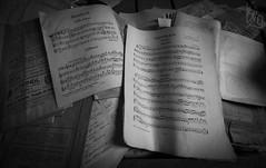 Requiem (katka.havlikova) Tags: requiem notes music church urbex urbanexploration urban exploration czech czechrepublic black white bw kostel noty hudba holy trinity