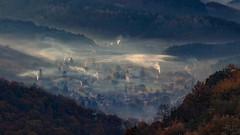 Painterly Zagyvaróna (Janos Puskas) Tags: 650d 70210usm zagyvaróna nógrád nógrádcounty salgótarján castleofsalgo fog autumn autumnmorning landscape painterly