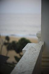 Mount Lavinia Balustrade (ARROWSMITH) Tags: rupert arrowsmith leica mount lavinia srilanka oldhotel noctilux 10 f1 sea beach depthoffield paint flaking arabiansea