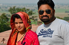 SuperDry Couple (Pedestrian Photographer) Tags: mr mrs married super dry superdry sunglasses man woman marry couple fatehpur sikri india indians