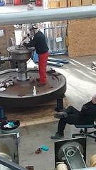 Fluffy II (Worcestershire UK) Tags: ethos ethosenergy woodgroup welder polisher tigwelder welding steamturbinerepaircentre fluffy supervisor neildavis peteashfield